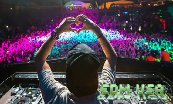 EDM heart sign hands